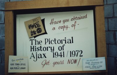 """The pictorial history of Ajax 1941/1972"" Book Display"