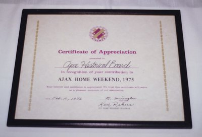 A Certificate of Appreciation