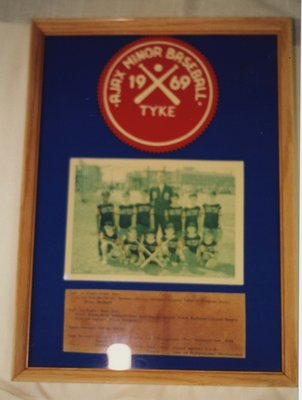 Ajax Minor Baseball Tyke 1969