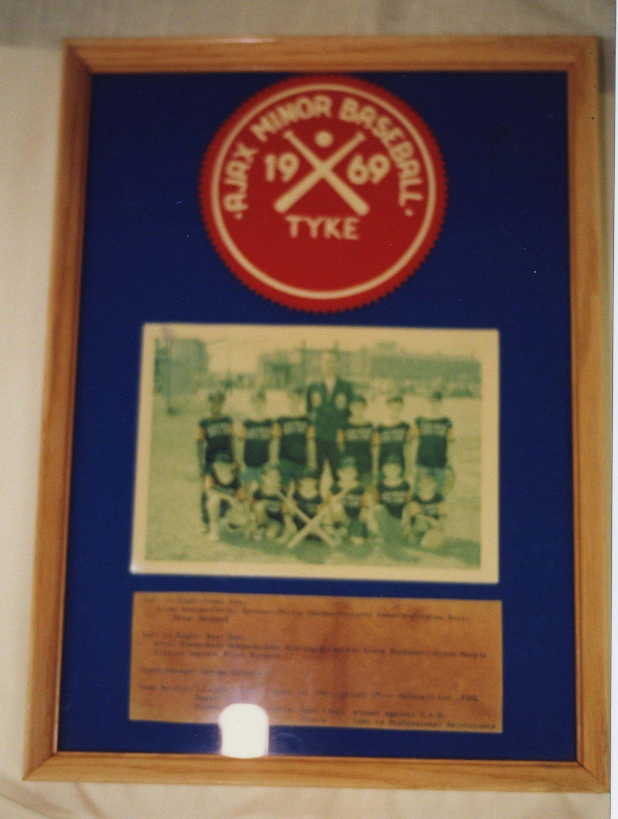 Ajax Minor Baseball Tyke 1969