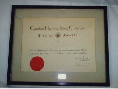 The Canadian Highway Safety Conference Special Award