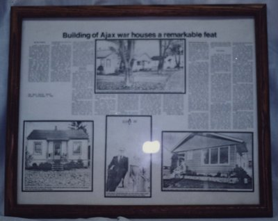 War Time Housing Newspaper Article