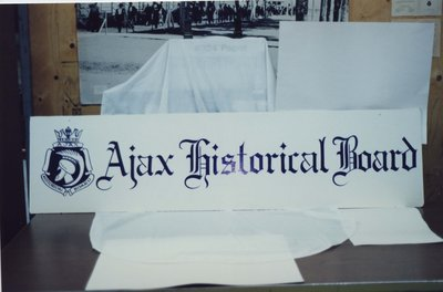 The Ajax Historical Board Sign