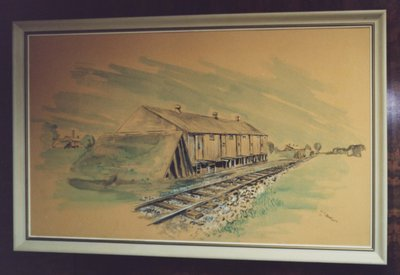 Painting of a Wartime Building