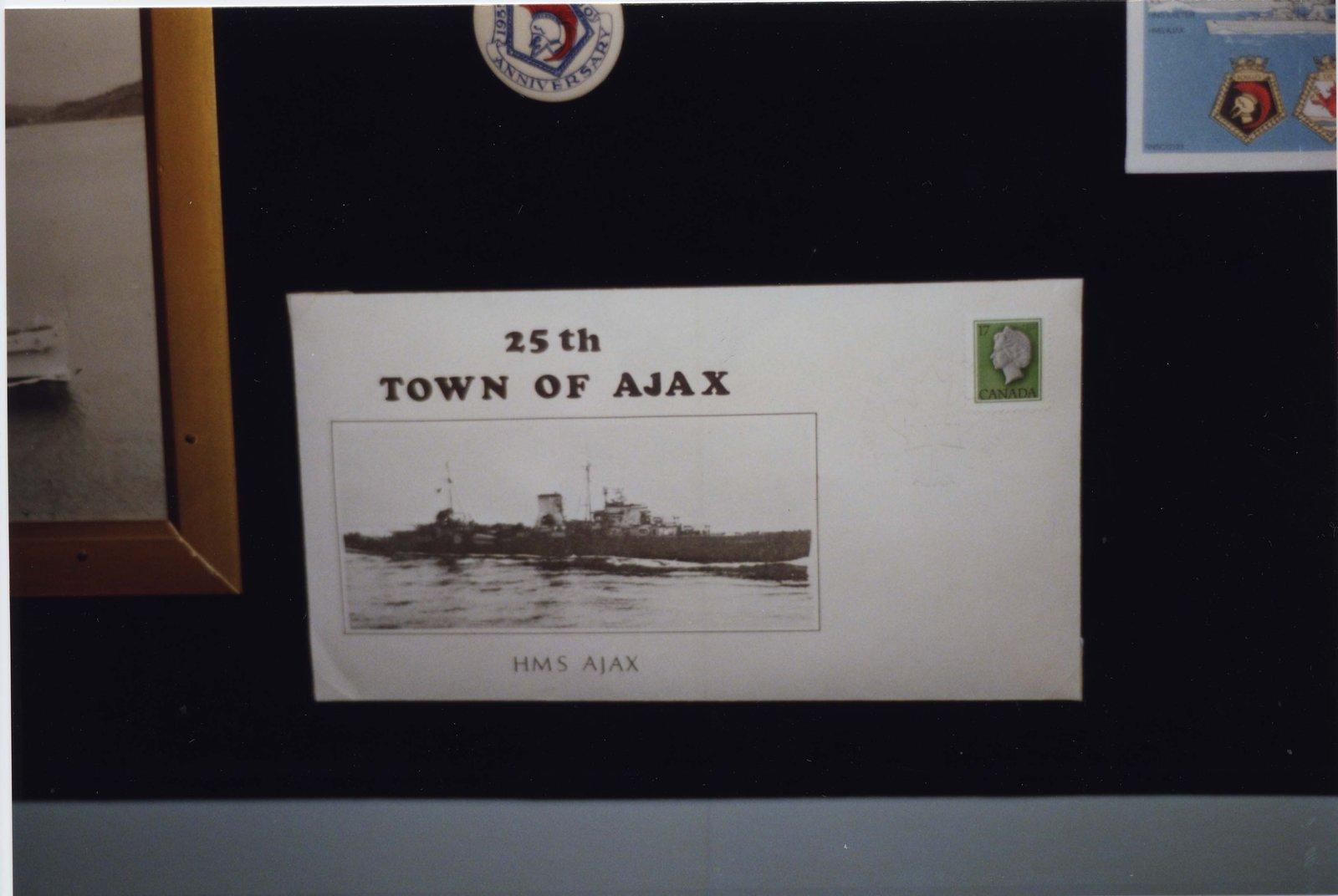 Commemorative Envelope for Ajax's Silver Anniversary