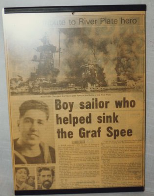 Boy sailor who helped sink the Graf Spee