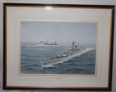 Painting of the 1935 and 1963 H.M.S. Ajax