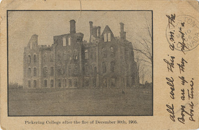 Pickering College after the fire