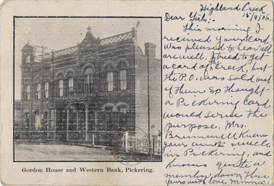 Gordon House and Western Bank