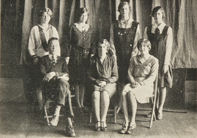 Burford High School yearbook committee, 1930