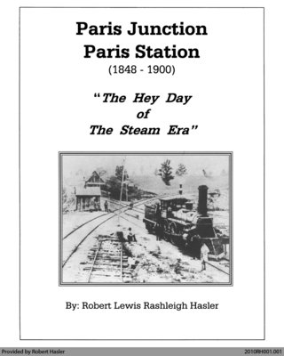 "Paris Junction, Paris Station (1848 - 1900): ""The Hey Day of The Steam Era"""
