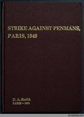 Strike Against Penmans, Paris, 1949