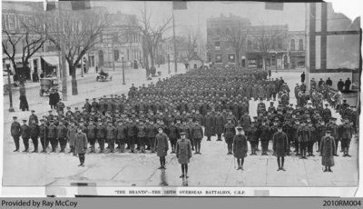 125th Overseas Battalion, C.E.F., in Brantford