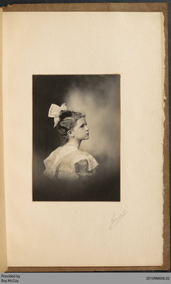 Photograph of Constance Baird Foley, Age 9