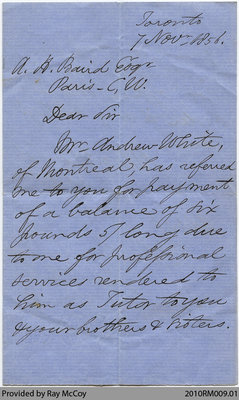 Collection of Baird family letters