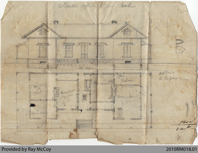 House plan (possibly Baird house)