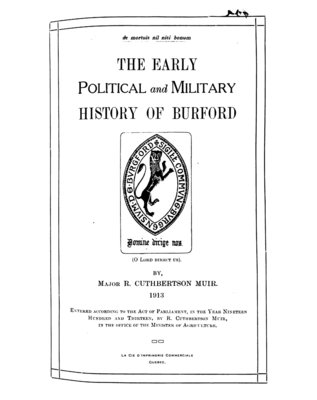 The Early Political and Military History of Burford