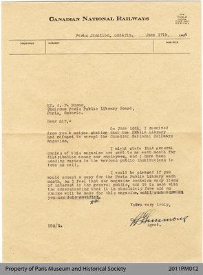 Letter to J. P. Nunan