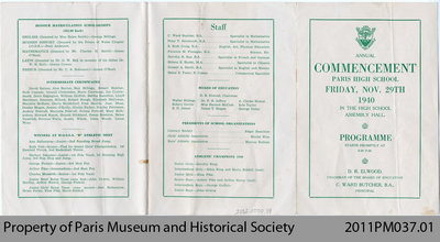 Annual Commencement Programme (1940)