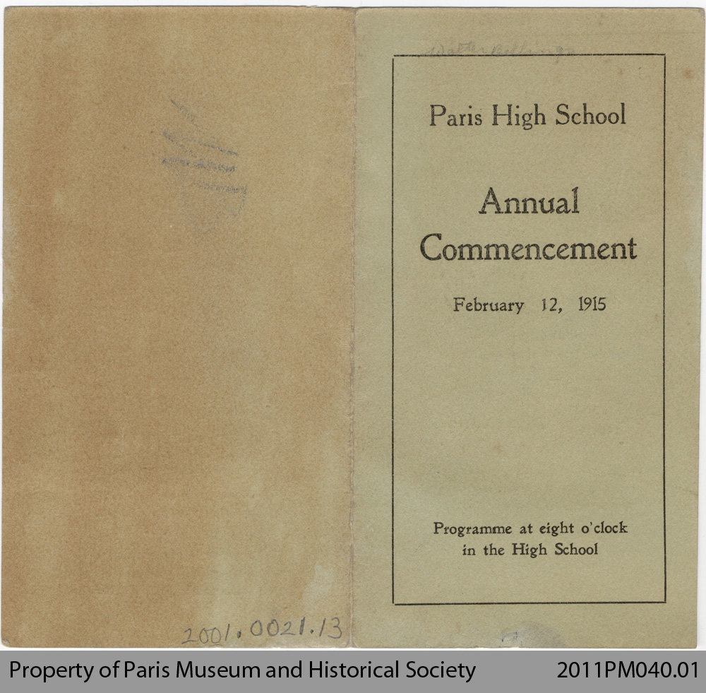 Annual Commencement Programme (1915)