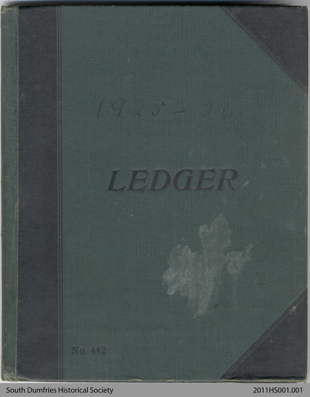 Ledger Book, 1925-26