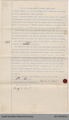 Document Releasing Louie Marie Bell as Executrix