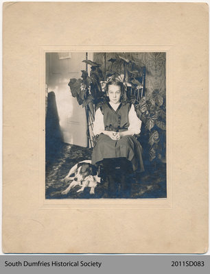 Photo of Sadie Bannister with a Dog