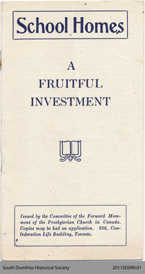 School Homes: A Fruitful Investment (Missionary Pamphlet)