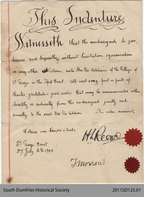 Legal Contract of Mrs. Dr. Addison