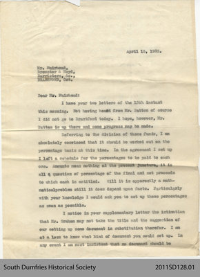 Letter from Conant & Annis to Mr. Muirhead