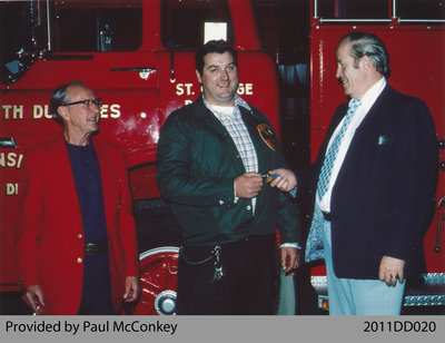 Keys of New Pumper Being Presented to Fire Chief Earl Monkhouse