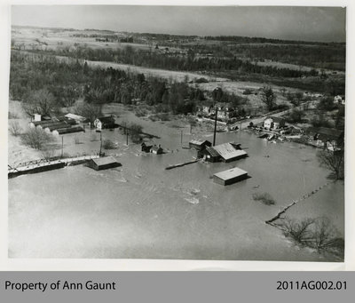 Aerial View of the Flood of the Grand River