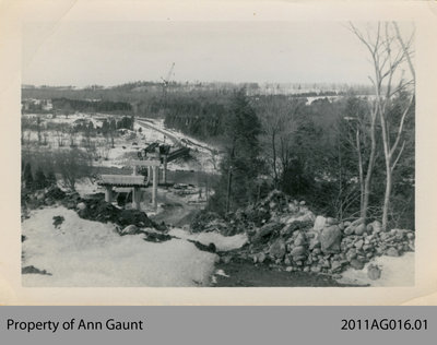 Construction of the New Bridge in Glen Morris