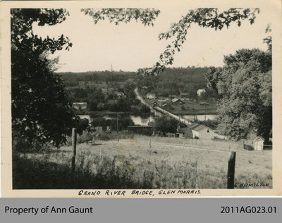 View of the Original Glen Morris Bridge From the East Side of the Grand River