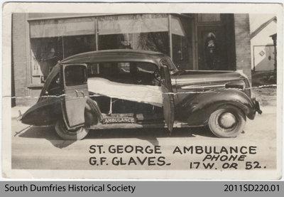 Postcard Depicting St. George Ambulance