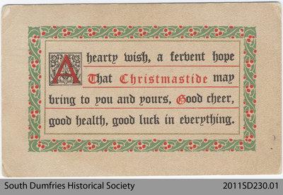 Christmas Postcard 1913