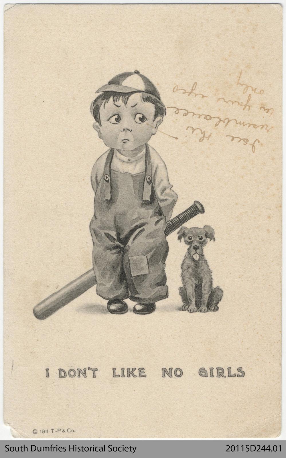 Postcard Addressed to Mr. R.E.W. Lawrason.