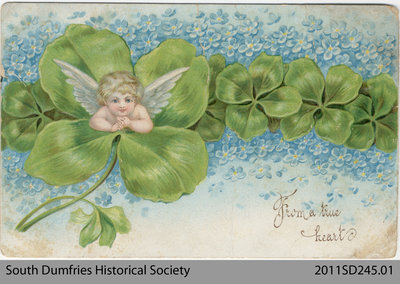 Greeting Postcard Addressed to Miss R. G. Lawrason