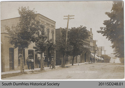 Postcard Depicting Main Street in St. George