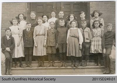 Postcard Depicting Class Photo