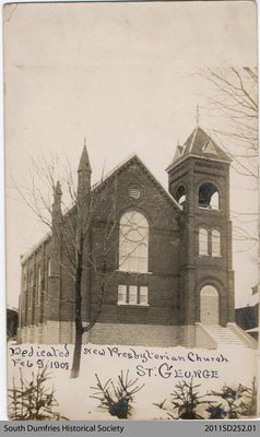 Postcard Depicting Presbyterian Church in St. George
