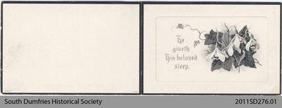 Funeral Card, Margaret Seijon