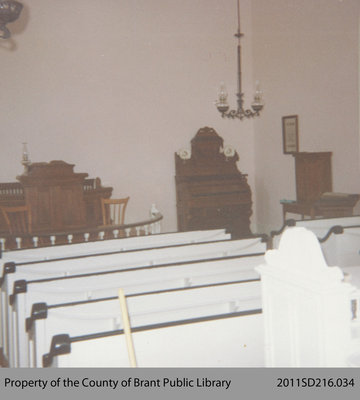 Interior of the Paris Plains Church