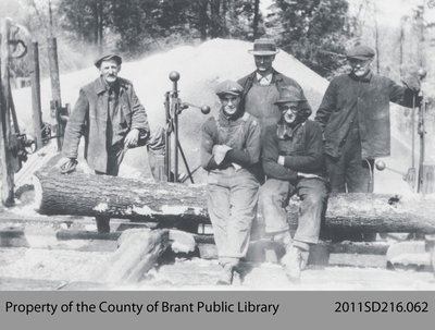 Sawmill Workers in Fred Howell's Bush