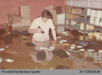 M & A Store During the Flood of 1974