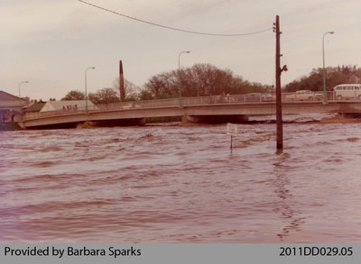 Flood in Paris in 1974