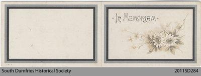 Funeral Card, John Oliver