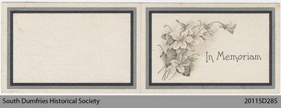 Funeral Card, Janet McBean