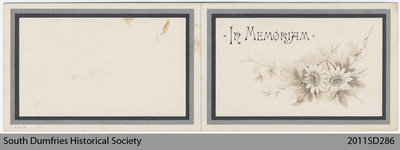 Funeral Card, Jessie Goodall