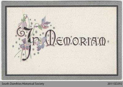 Funeral Card, Eleanor Edith Barrett